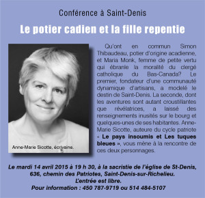 Conférence Anne-Marie Sicotte